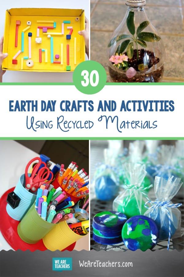 30 Artesanatos e atividades do Dia da Terra usando materiais reciclados