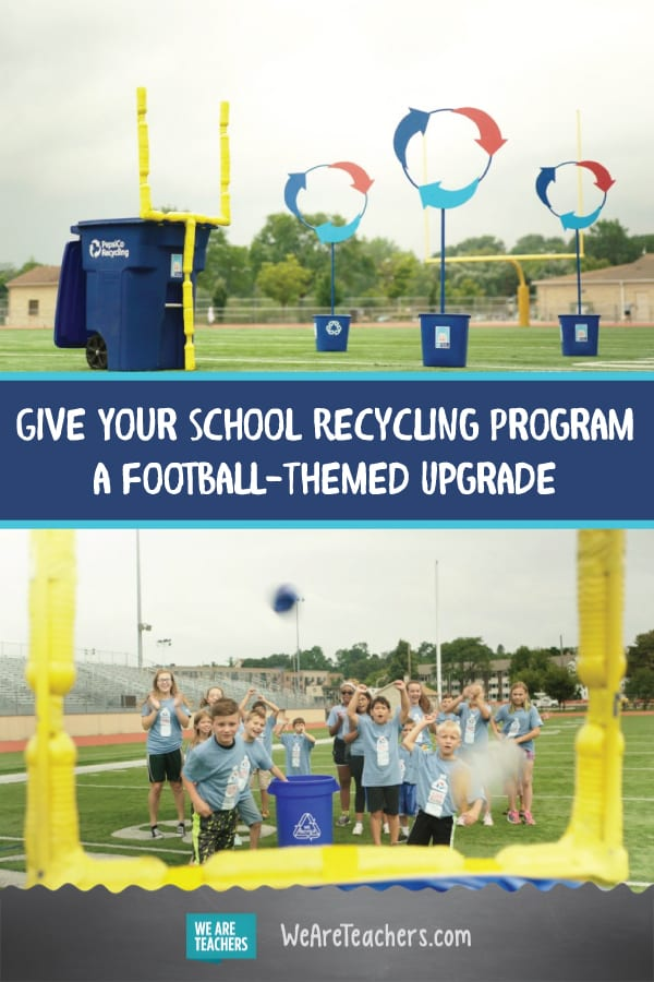 Give Your School Recycling Program a Football-Themed Upgrade