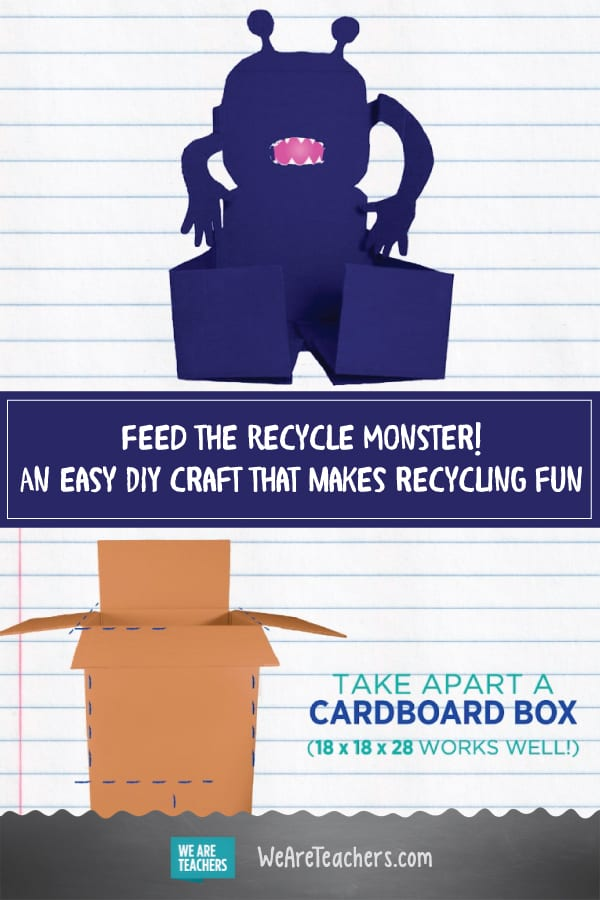 DIY a Cardboard Box into a Recycle Monster