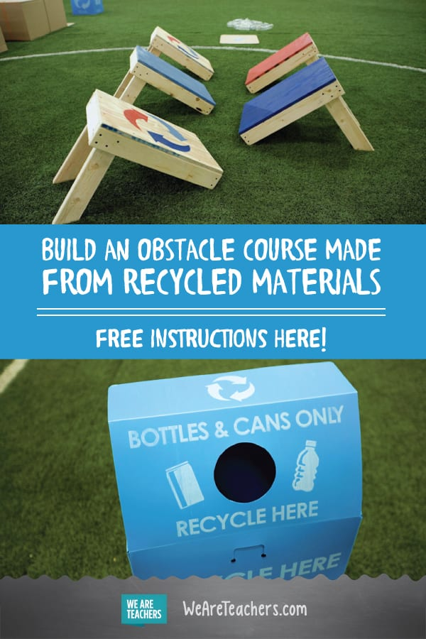 How to Make a DIY Obstacle Course From Recycled Materials
