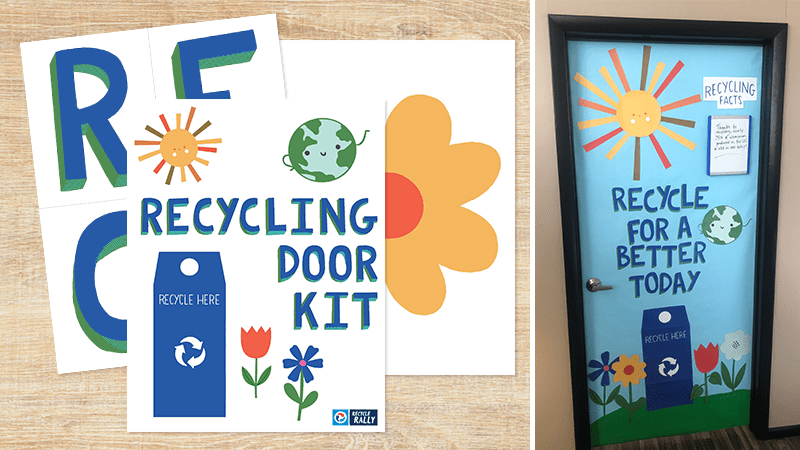 Printable Recycling Door Kit