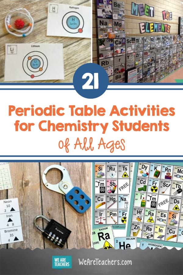 21 Fascinating Periodic Table Activities for Chemistry Students of All Ages
