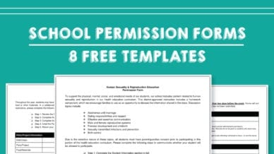 School Permission Forms Templates