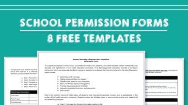 School Permission Forms Templates