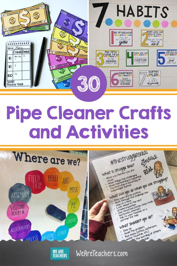 30 Clever and Colorful Pipe Cleaner Crafts and Learning Activities
