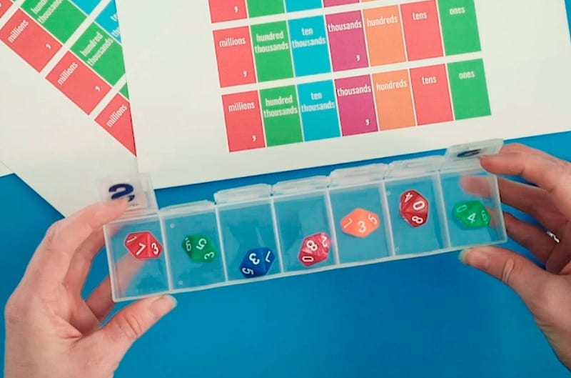 Photo Playing Free Place Value Game