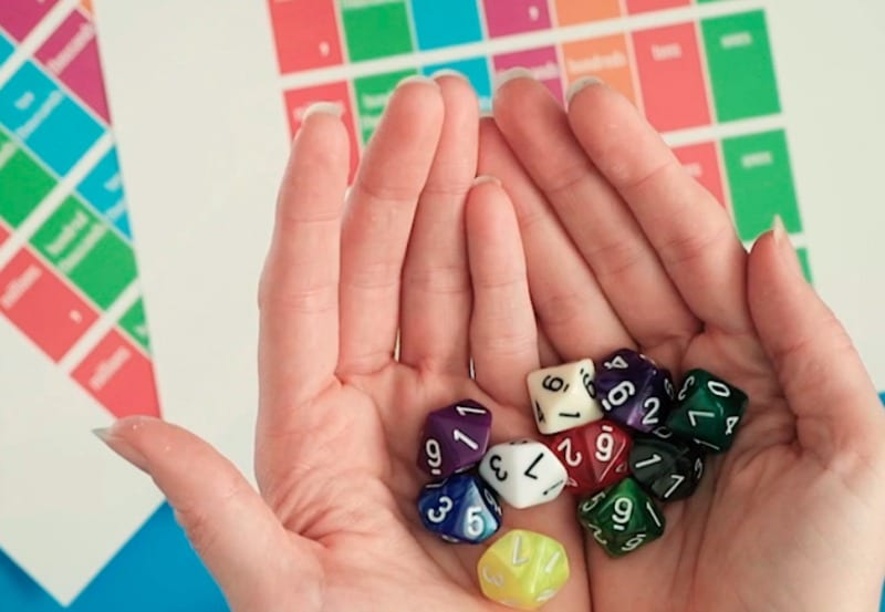 Photo of 10 Sided Dice for Free Place Value Game
