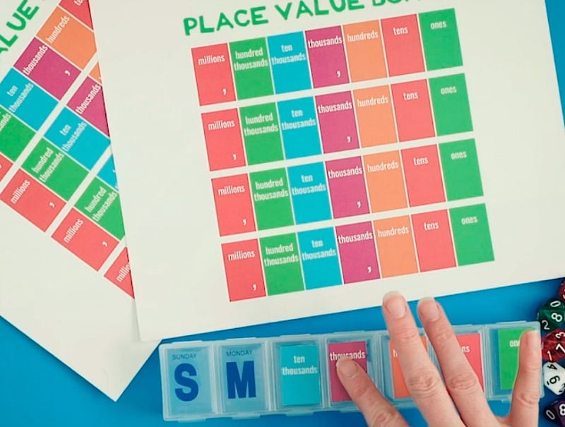 Photo of Free Place Value Game - Glue on Markers