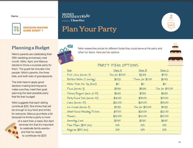 Plan your party screenshot