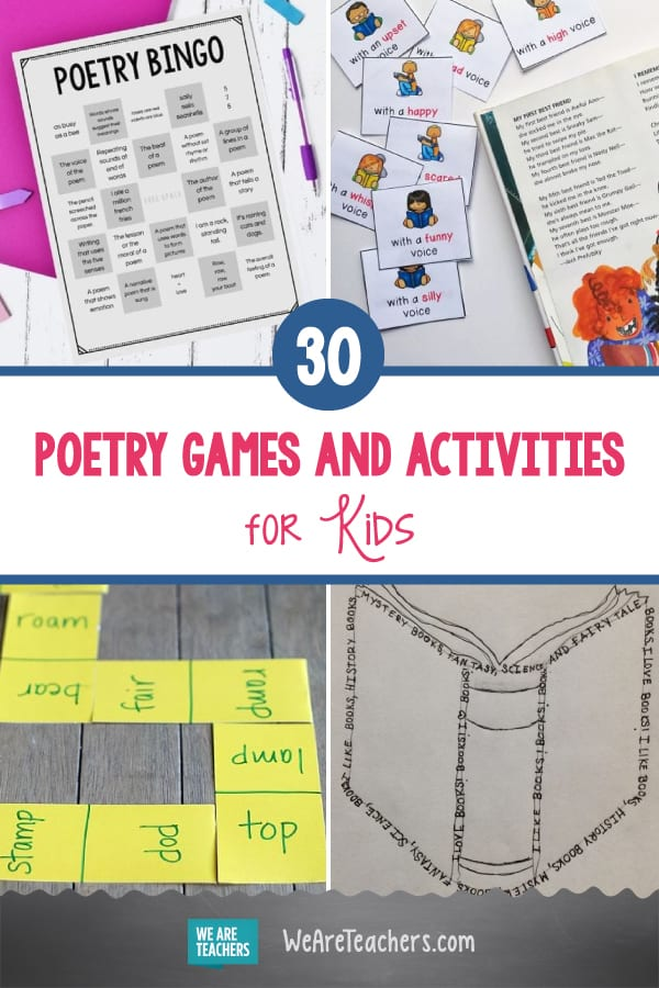 30 Poetry Games and Activities for Kids