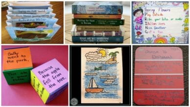 Collage of Poetry Games and Activities