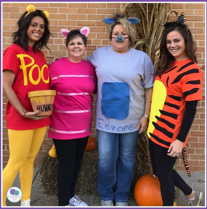 Pooh and Friends costumes for teachers