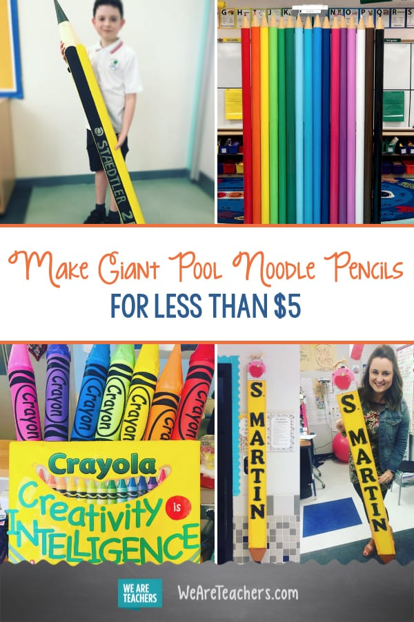 Make Giant Pool Noodle Pencils for Less Than $5