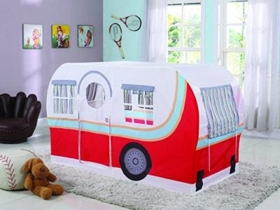 Camping theme classroom pop up camper tent
