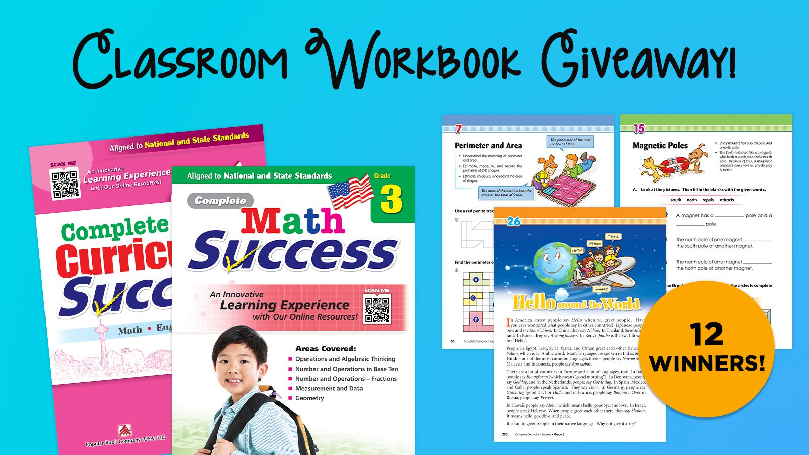 Classroom Set of Math or Curriculum Workbooks Giveaway