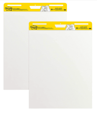Giant Post-It Sticky Pads for middle school math