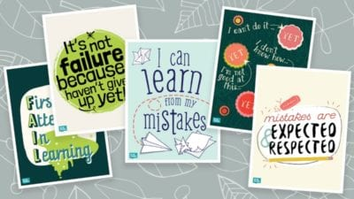 Free Growth Mindset Posters for the Classroom