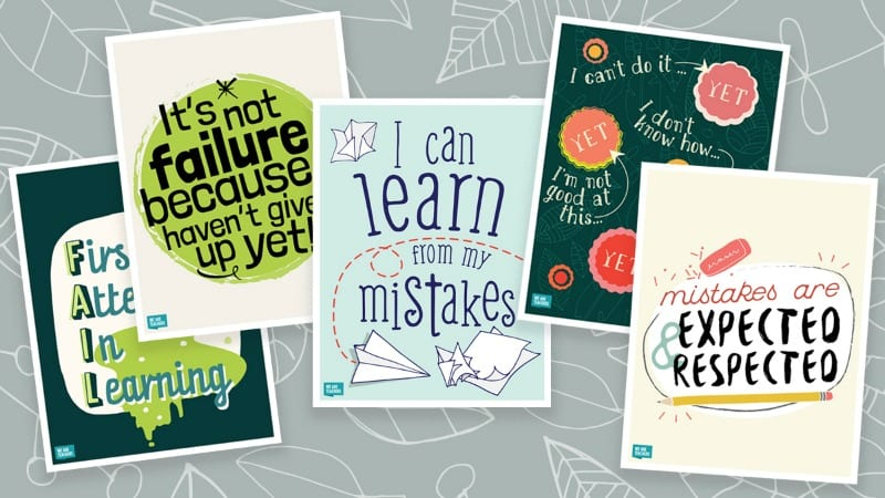 photo about Free Printable Classroom Posters named Improvement Attitude Posters in direction of Carry Excess Positivity towards Your