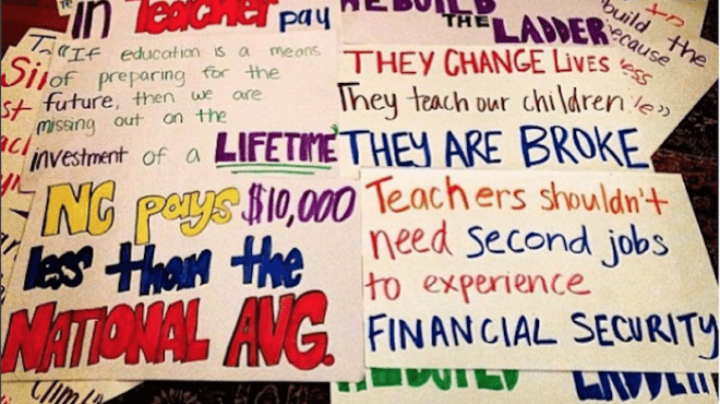 How Close Are Teachers to Receiving Poverty Benefits?