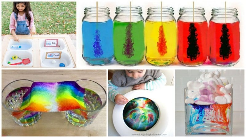 Collage of Preschool Science Experiments and Activities