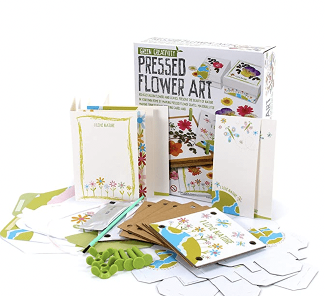 Flower press art kit, as an example of educational outdoor toys