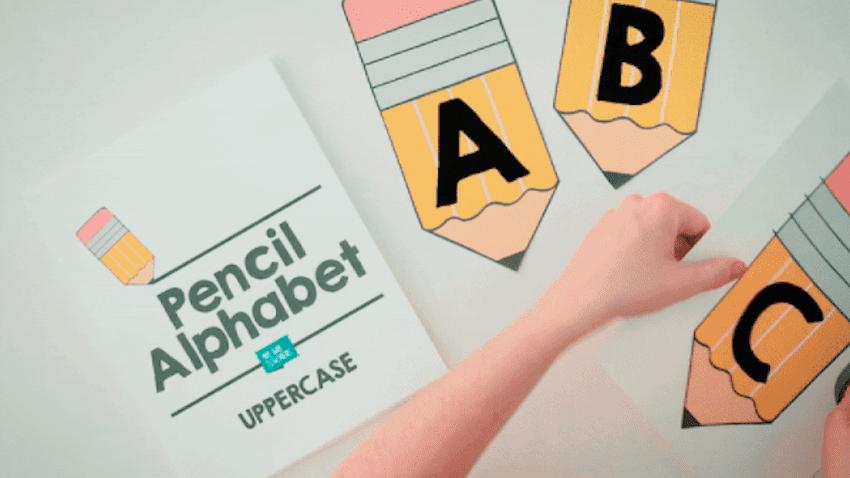 Pencil Alphabet - Free to Save and Print - WeAreTeachers