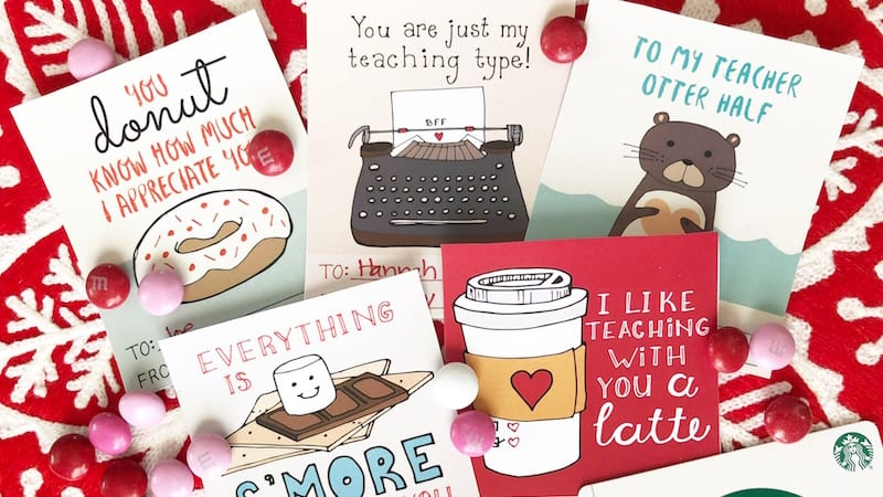 Printable Valentines for Teachers