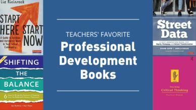 Teachers' favorite professional development books.