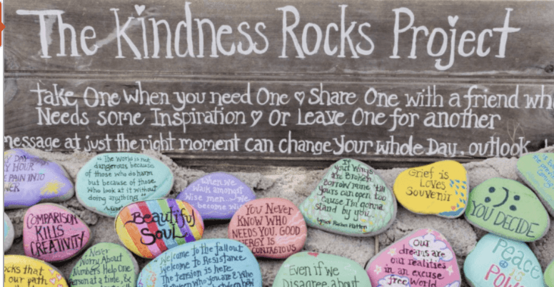 painted rocks with kind messages on them