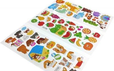 Puffy stickers sheet