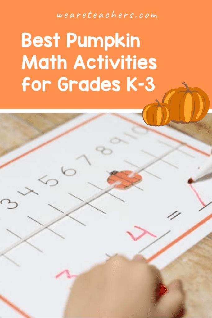 Best Pumpkin Math Activities for Grades K–3