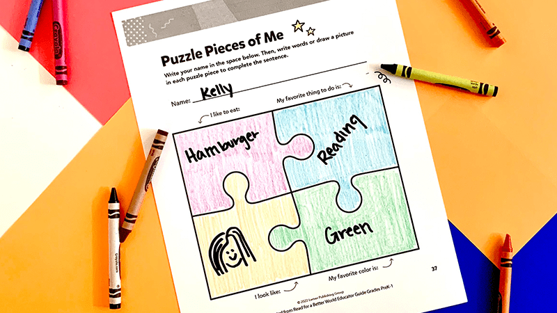Diversity Puzzle Game for PreK-1 students
