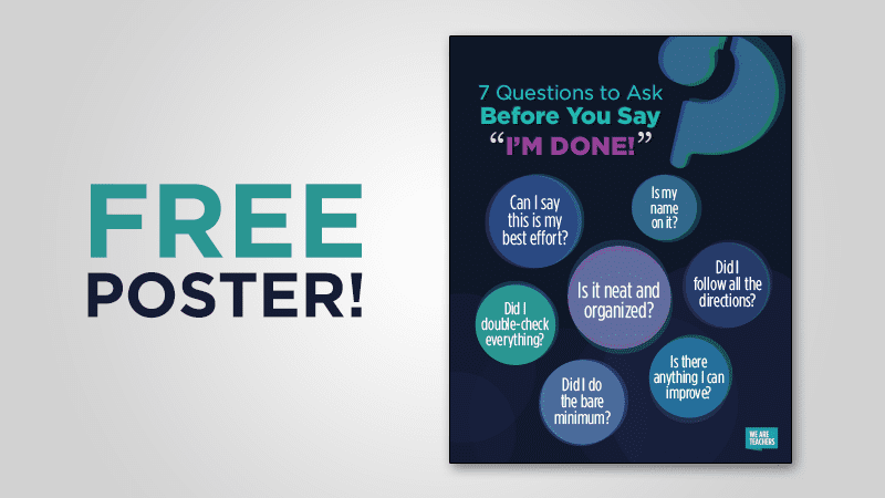 Free Poster: Checklist for Turning in Work