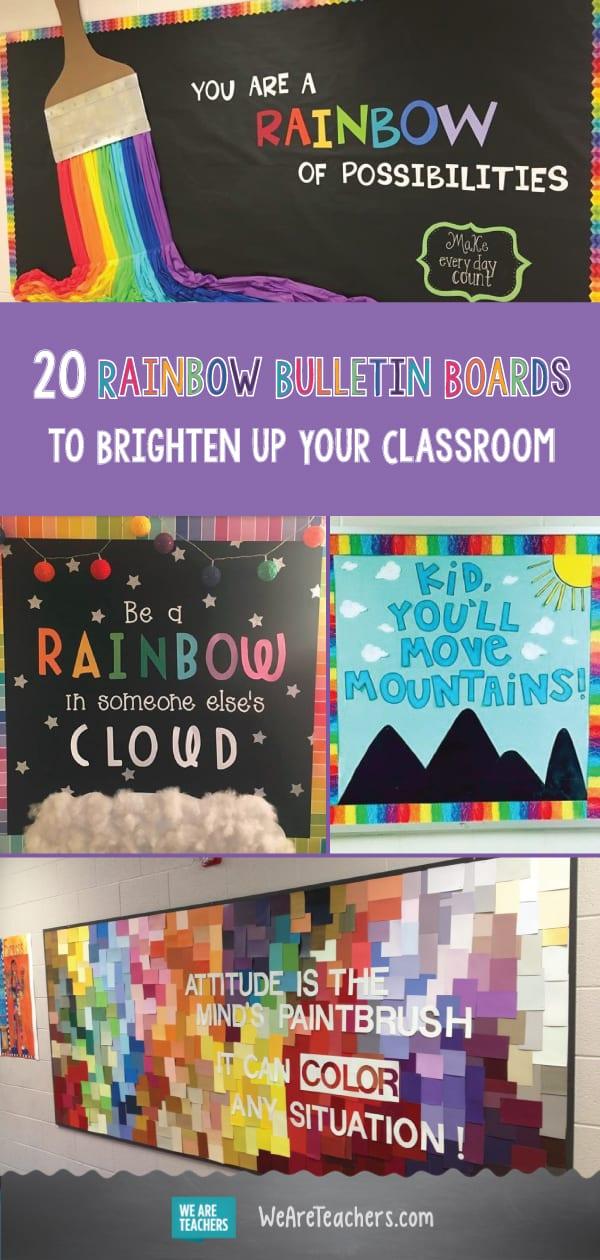 20 Rainbow Bulletin Boards For A Colorful Classroom Weareteachers