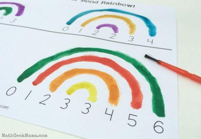Paint number bond rainbows