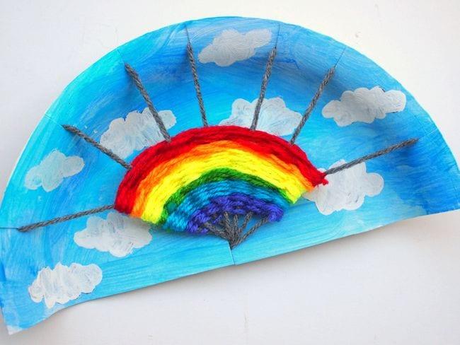 Woven craft rainbow
