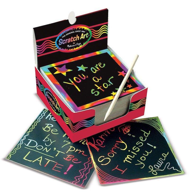 Rainbow Mini Scratch Art Notes - Art Supplies Under $10