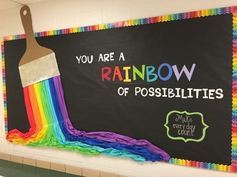You are a rainbow of possibilities rainbow bulletin board
