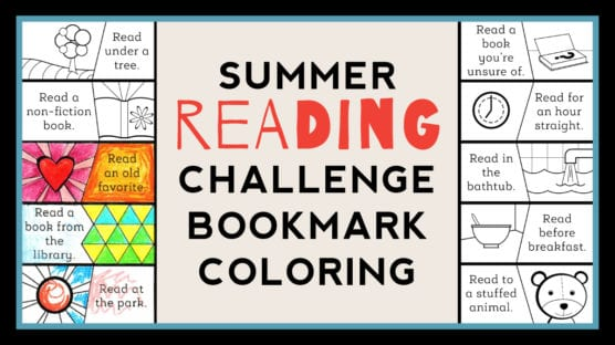 Color-as-You-Go Summer Reading Challenge Bookmark