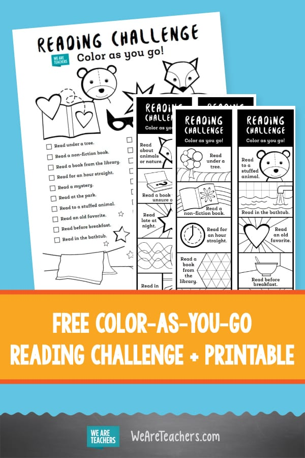 Invite Kids to Take This Color-as-You-Go Reading Challenge