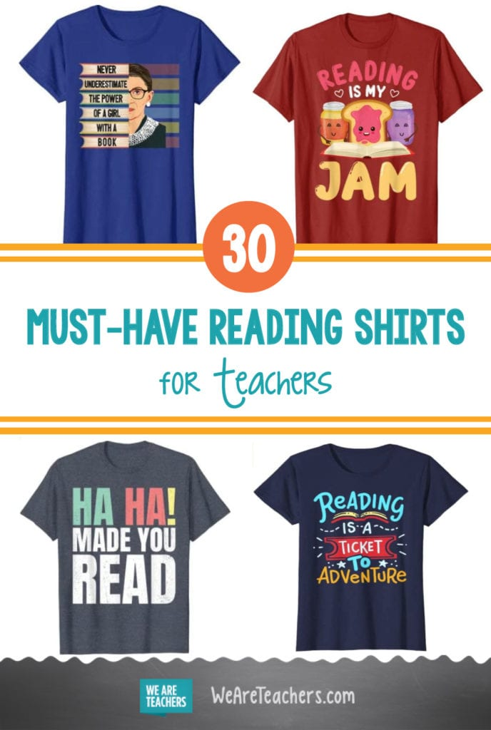 30 Must-Have Reading Shirts for Teachers Who Love Books