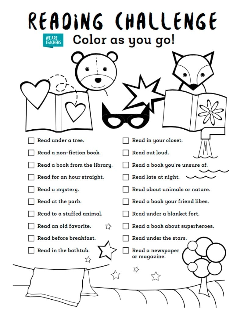 Complete This Color-as-You-Go Reading Challenge