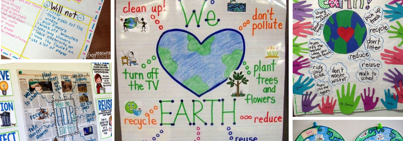 Five Images of Recycling Anchor Charts.