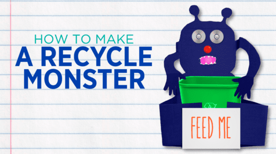 DIY recycling station monster