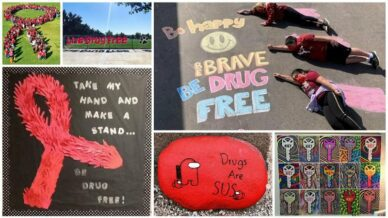 Collage of Red Ribbon Week Ideas