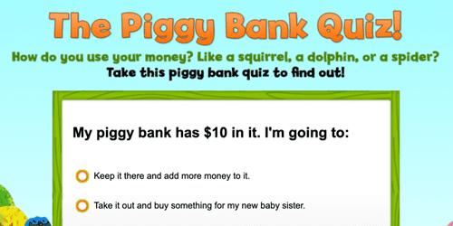 Piggy Bank Quiz