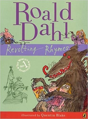 Book cover for Revolting Rhymes, as an example of poetry books for kids