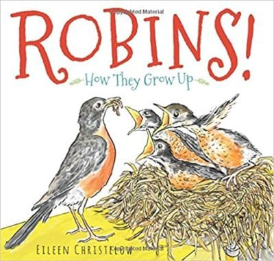 Book cover for Robins!: How They Grow Up