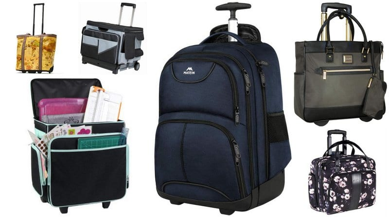 Collage of Best Rolling Bags for Teachers