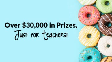 Over $30,000 in prizes, just for teachers!